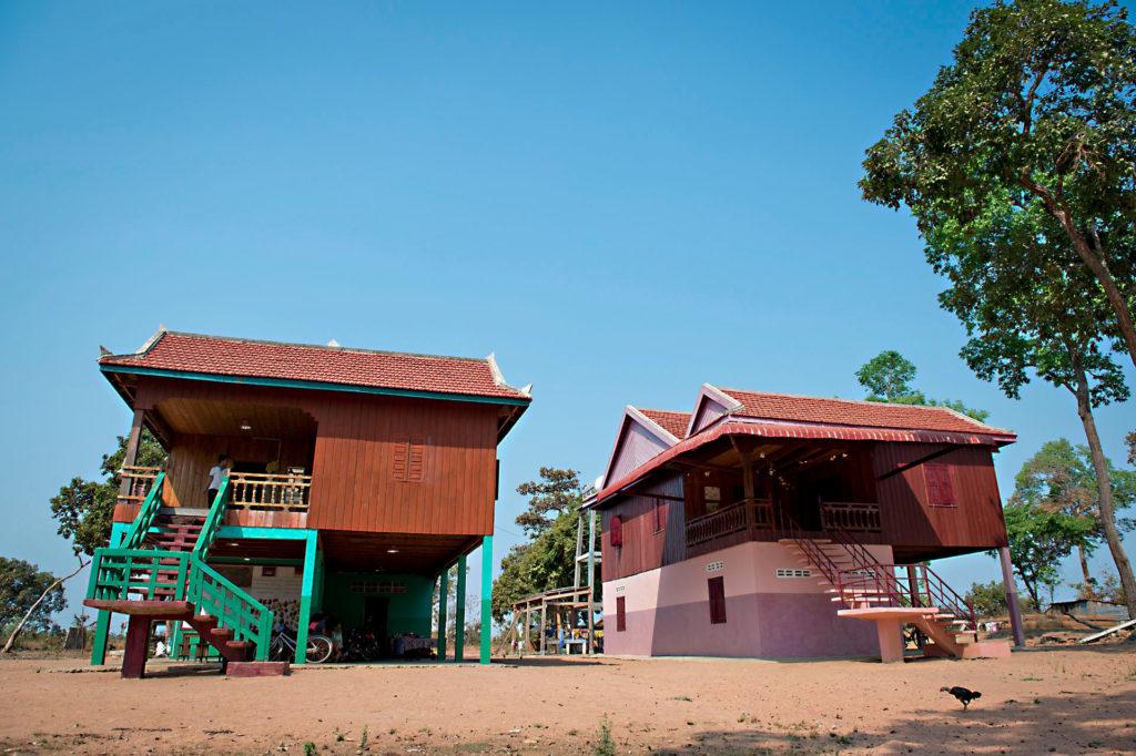 Unser Kinderdorf in Kambodscha. Errichtet durch aktive Hilfe und Spenden junger Menschen.